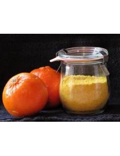 Polvere di buccia di mandarino